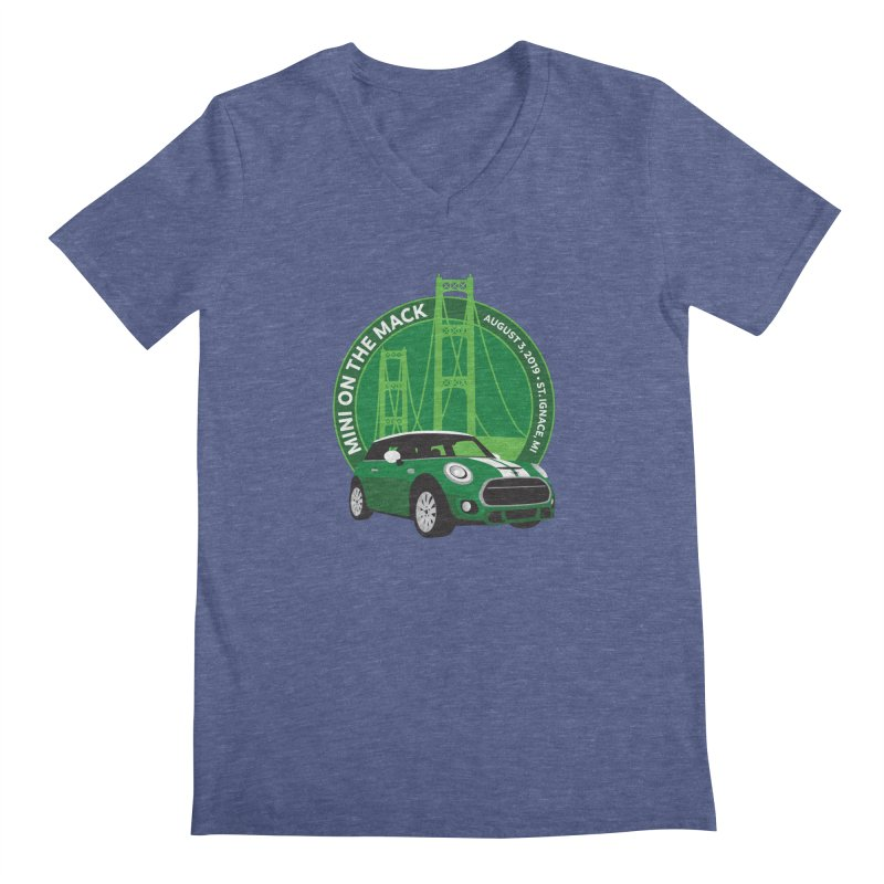 MINI on the Mack 2019 Men's Regular V-Neck by TwistyMini Motoring Shirts