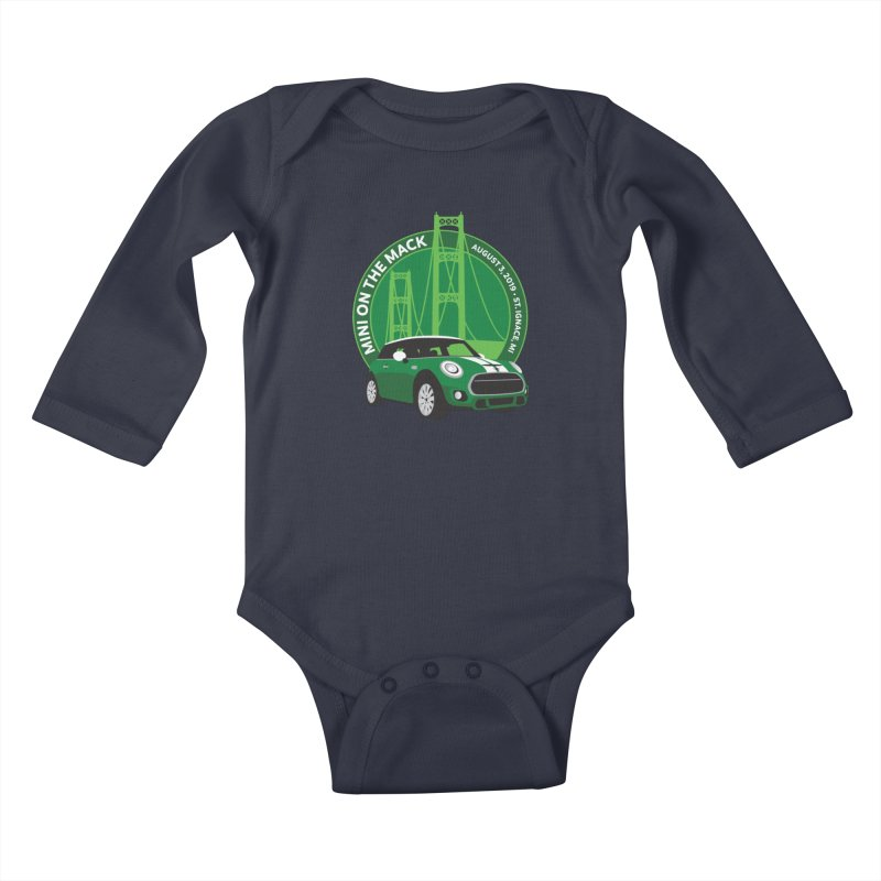 MINI on the Mack 2019 Kids Baby Longsleeve Bodysuit by TwistyMini Motoring Shirts