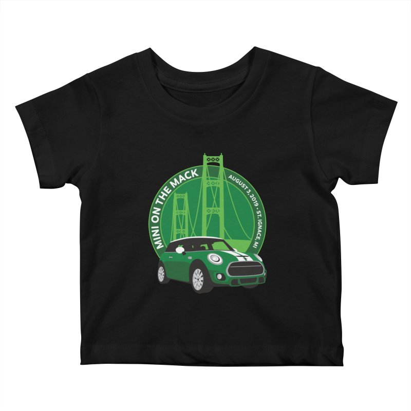 MINI on the Mack 2019 Kids Baby T-Shirt by TwistyMini Motoring Shirts