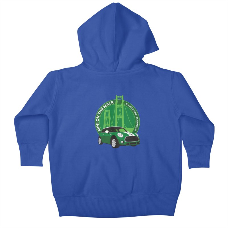 MINI on the Mack 2019 Kids Baby Zip-Up Hoody by TwistyMini Motoring Shirts