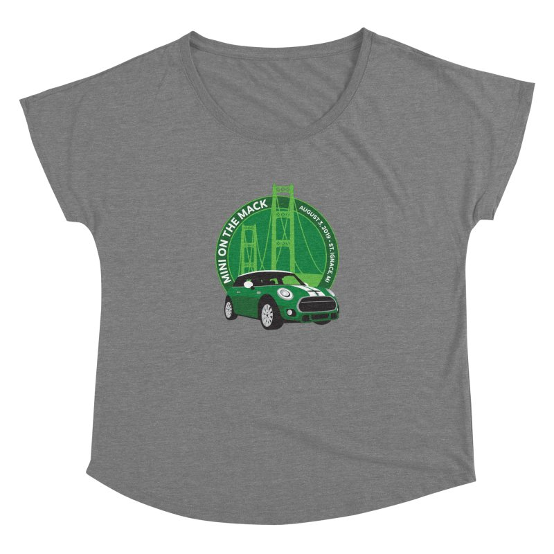 MINI on the Mack 2019 Women's Dolman Scoop Neck by TwistyMini Motoring Shirts