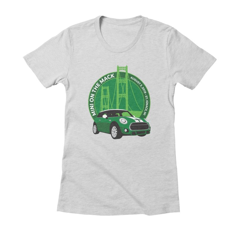 MINI on the Mack 2019 Women's Fitted T-Shirt by TwistyMini Motoring Shirts