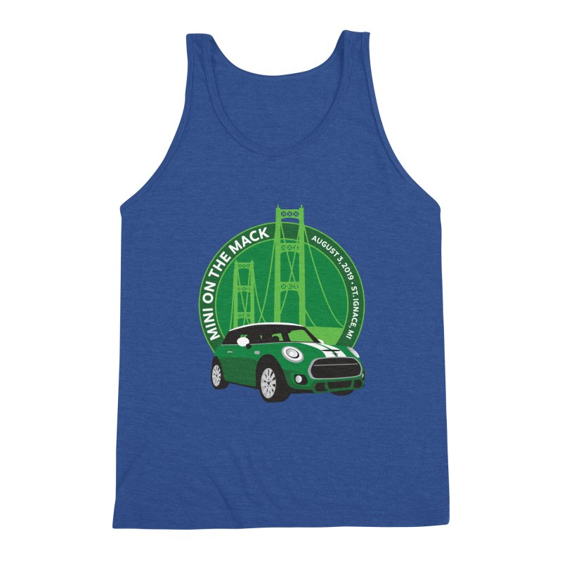 MINI on the Mack 2019 Men's Triblend Tank by TwistyMini Motoring Shirts