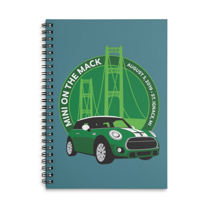 MINI on the Mack 2019 Accessories Lined Spiral Notebook by TwistyMini Motoring Shirts