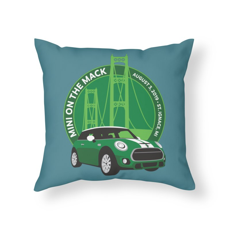 MINI on the Mack 2019 Home Throw Pillow by TwistyMini Motoring Shirts
