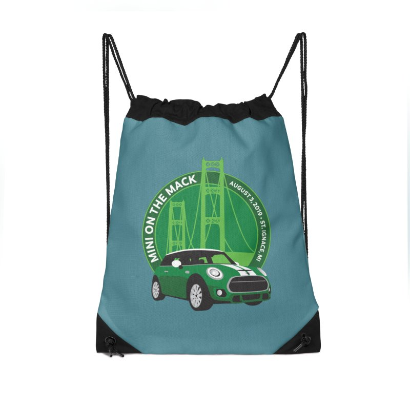 MINI on the Mack 2019 Accessories Drawstring Bag Bag by TwistyMini Motoring Shirts