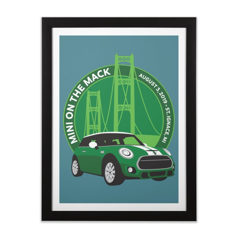 MINI on the Mack 2019 Home Framed Fine Art Print by TwistyMini Motoring Shirts