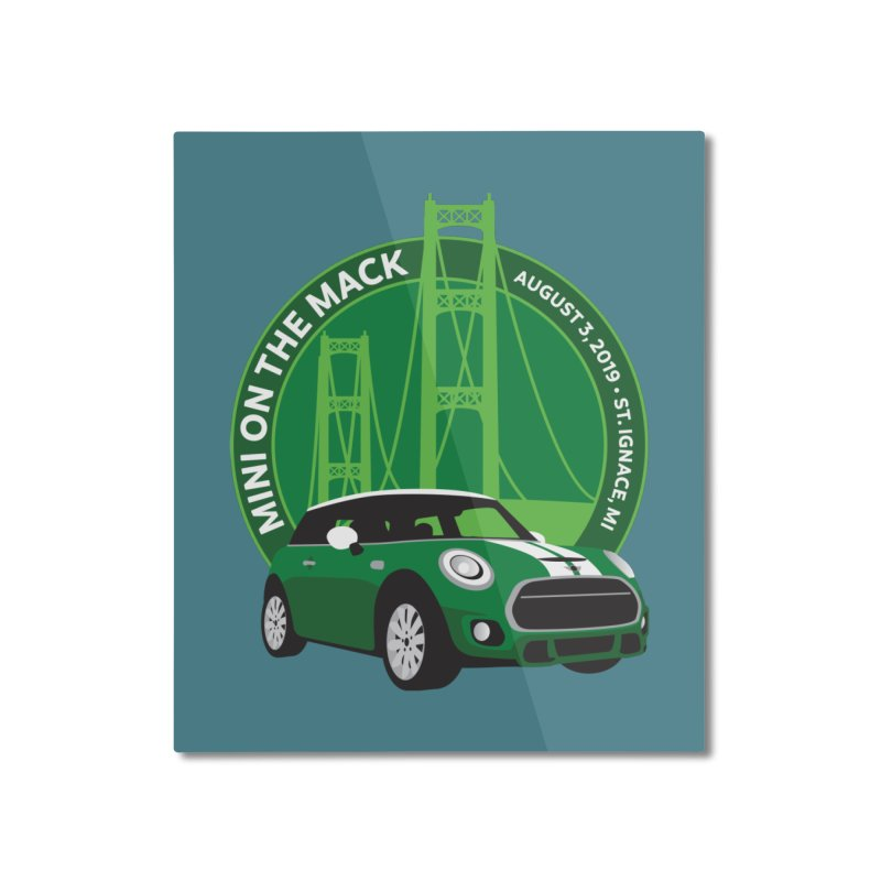 MINI on the Mack 2019 Home Mounted Aluminum Print by TwistyMini Motoring Shirts