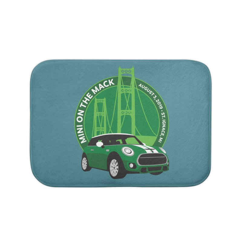 MINI on the Mack 2019 Home Bath Mat by TwistyMini Motoring Shirts