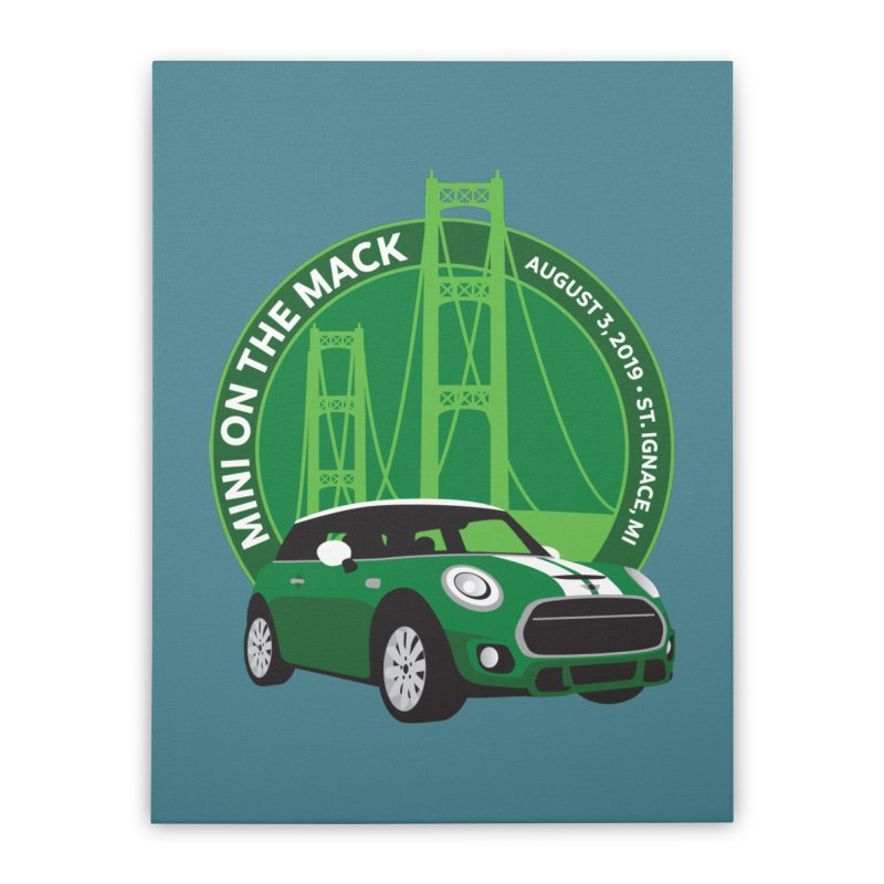 MINI on the Mack 2019 Home Stretched Canvas by TwistyMini Motoring Shirts