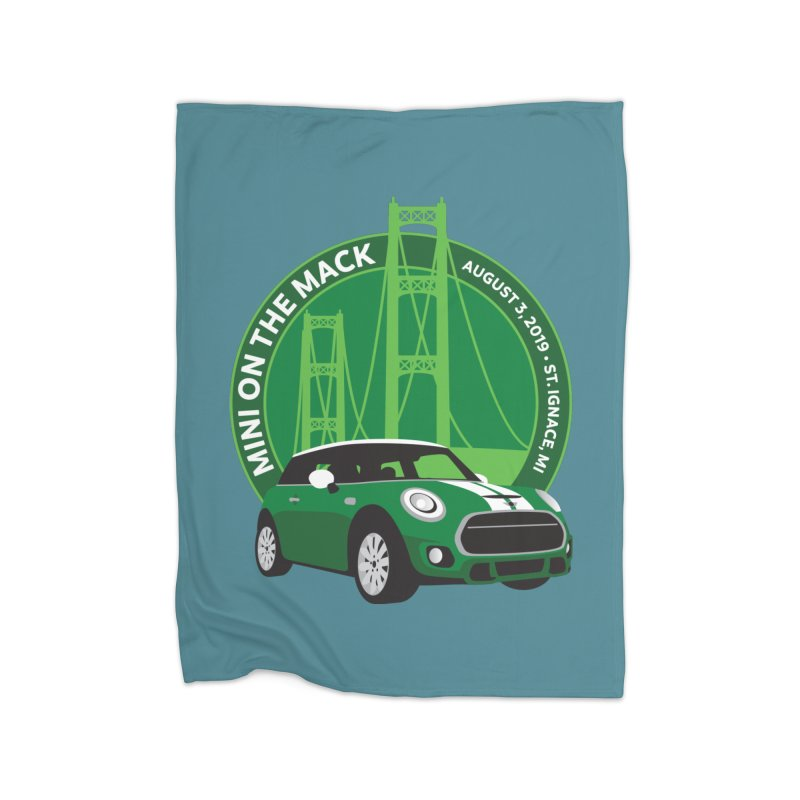 MINI on the Mack 2019 Home Fleece Blanket Blanket by TwistyMini Motoring Shirts