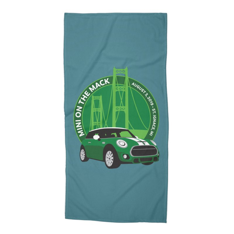 MINI on the Mack 2019 Accessories Beach Towel by TwistyMini Motoring Shirts