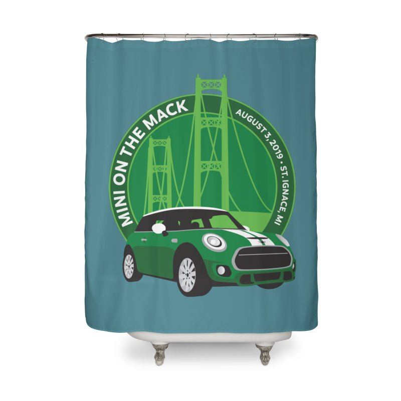MINI on the Mack 2019 Home Shower Curtain by TwistyMini Motoring Shirts