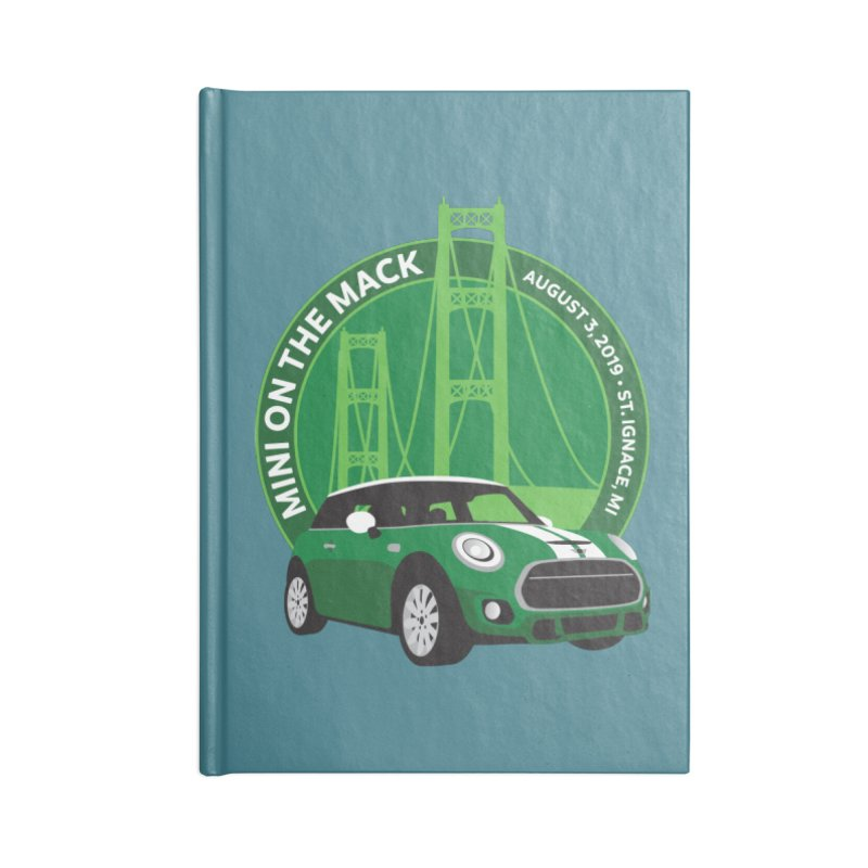 MINI on the Mack 2019 Accessories Lined Journal Notebook by TwistyMini Motoring Shirts