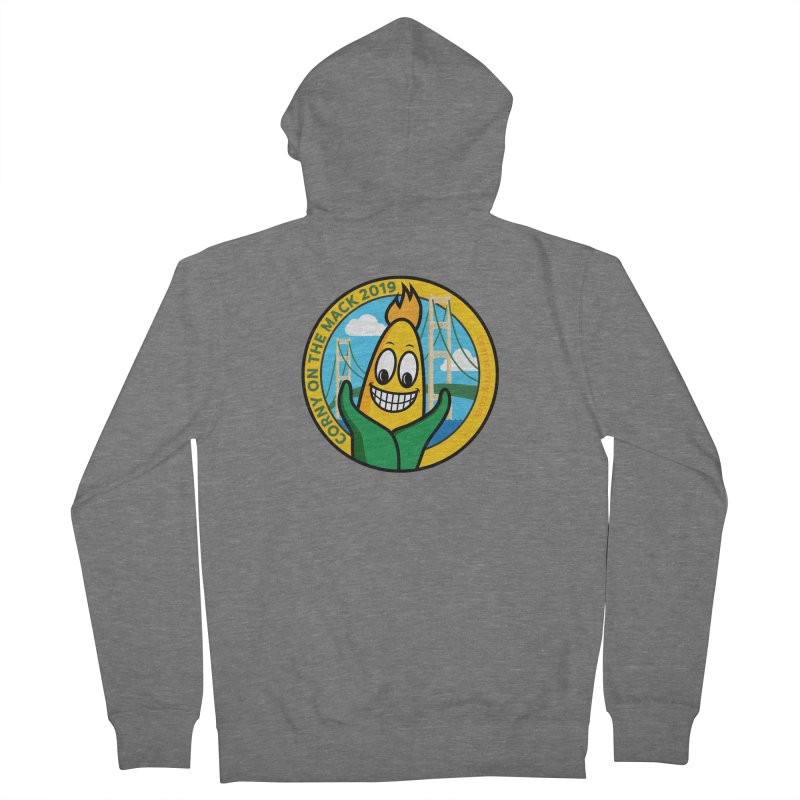 Corny on the Mack 2019 Men's French Terry Zip-Up Hoody by TwistyMini Motoring Shirts