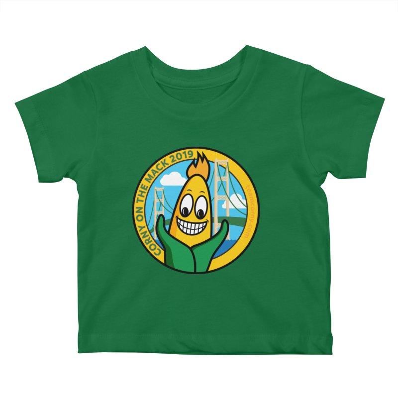 Corny on the Mack 2019 Kids Baby T-Shirt by TwistyMini Motoring Shirts