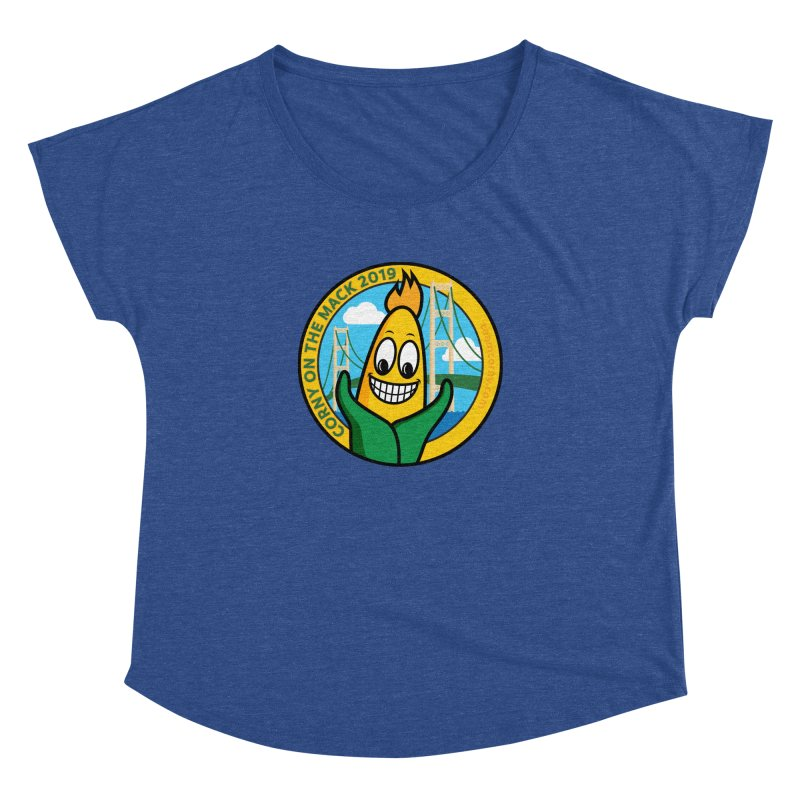 Corny on the Mack 2019 Women's Dolman Scoop Neck by TwistyMini Motoring Shirts