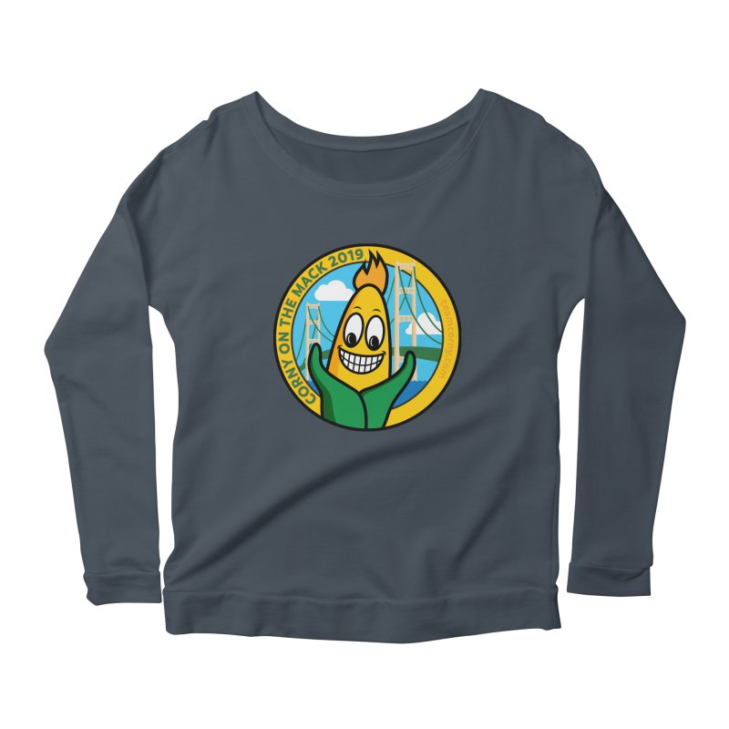 Corny on the Mack 2019 Women's Scoop Neck Longsleeve T-Shirt by TwistyMini Motoring Shirts