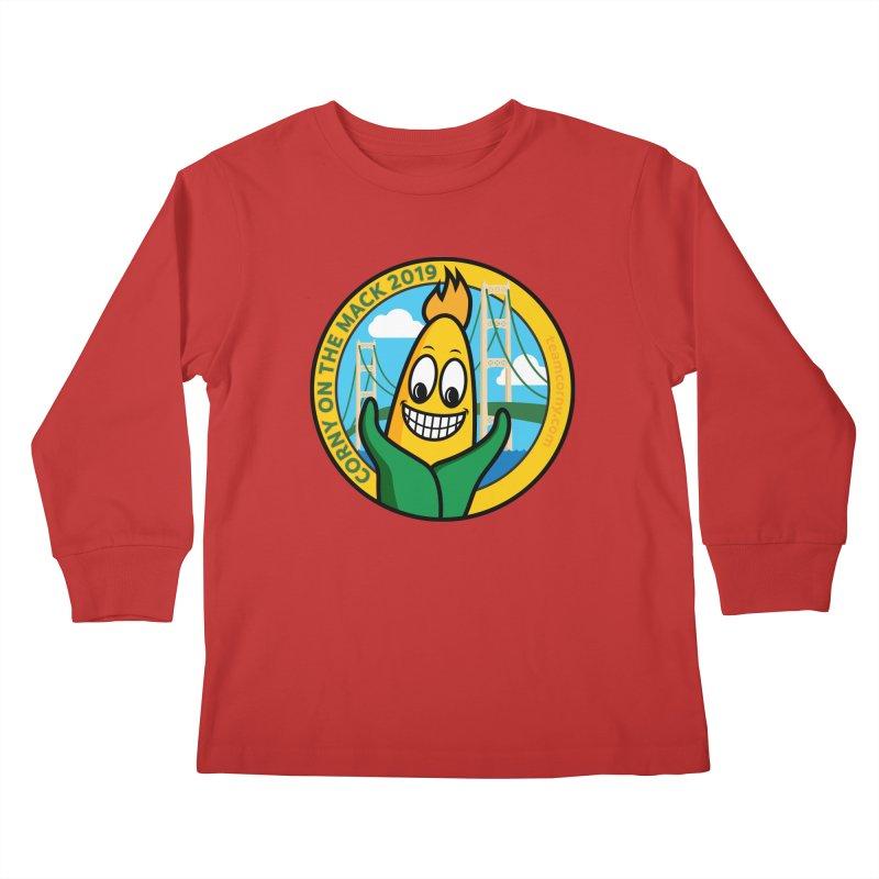 Corny on the Mack 2019 Kids Longsleeve T-Shirt by TwistyMini Motoring Shirts