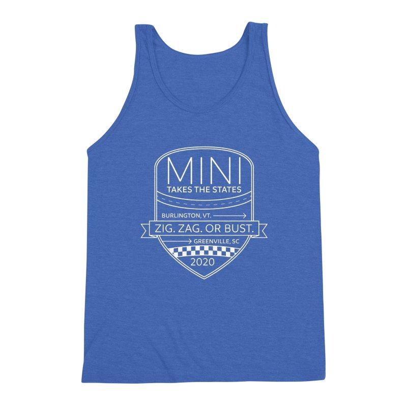 MTTS 2020 - White Men's Triblend Tank by TwistyMini Motoring Shirts
