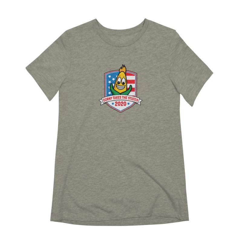 Corny Takes the States 2020 - Badge Women's Extra Soft T-Shirt by TwistyMini Motoring Shirts