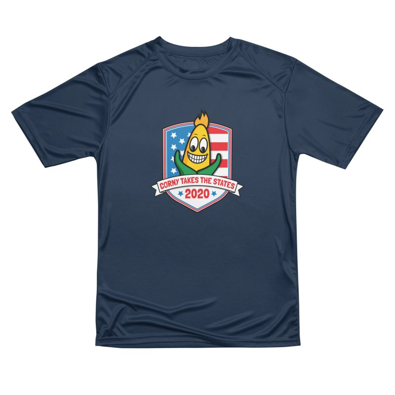 Corny Takes the States 2020 - Badge Women's Performance Unisex T-Shirt by TwistyMini Motoring Shirts