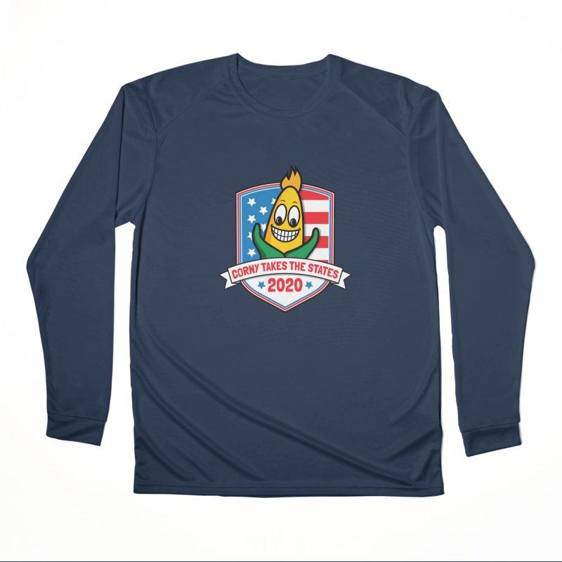 Corny Takes the States 2020 - Badge Women's Performance Unisex Longsleeve T-Shirt by TwistyMini Motoring Shirts