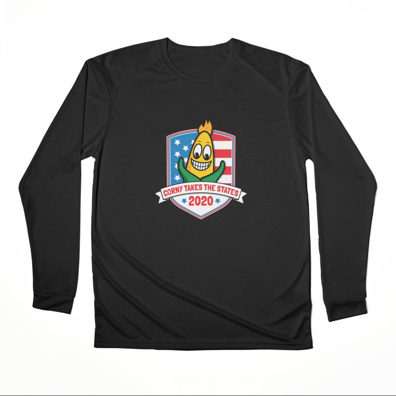 Corny Takes the States 2020 - Badge Men's Performance Longsleeve T-Shirt by TwistyMini Motoring Shirts