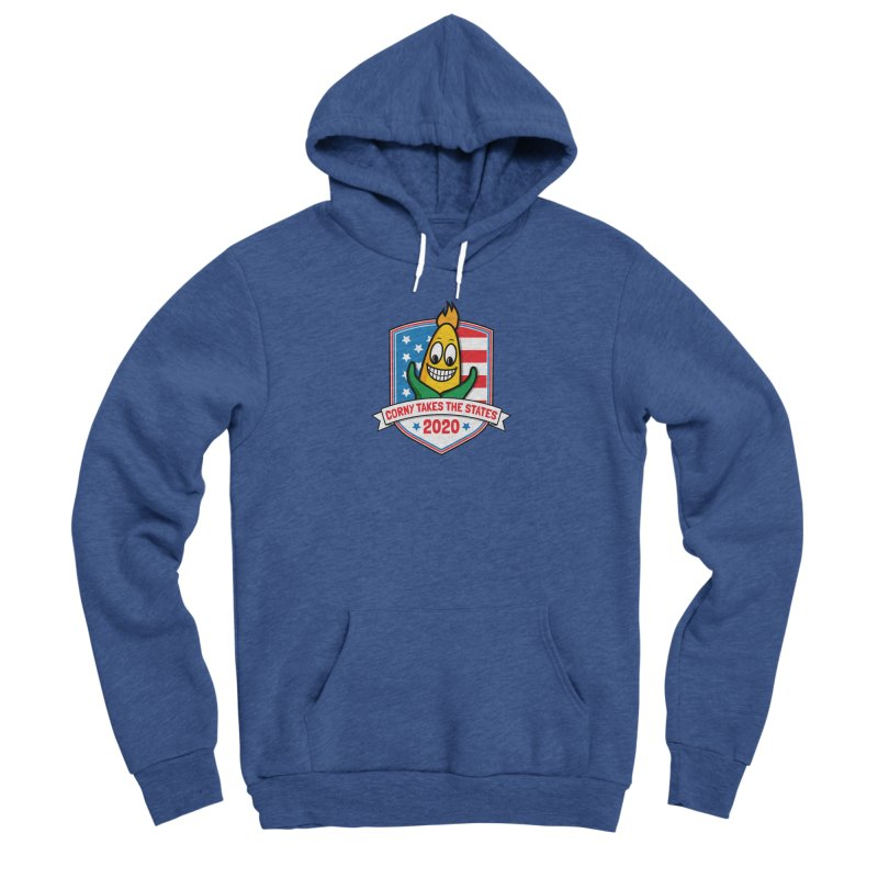 Corny Takes the States 2020 - Badge Men's Sponge Fleece Pullover Hoody by TwistyMini Motoring Shirts