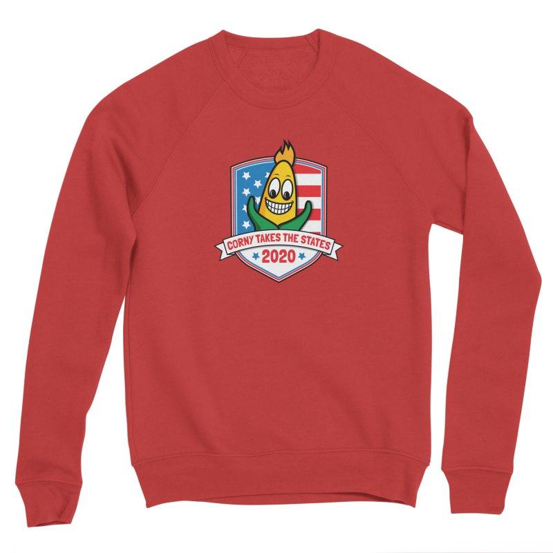 Corny Takes the States 2020 - Badge Men's Sponge Fleece Sweatshirt by TwistyMini Motoring Shirts