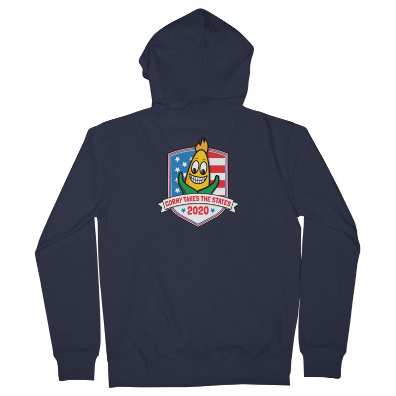 Corny Takes the States 2020 - Badge Men's French Terry Zip-Up Hoody by TwistyMini Motoring Shirts