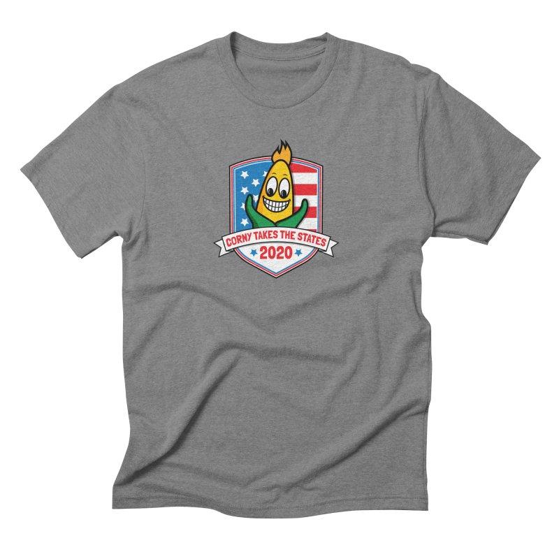 Corny Takes the States 2020 - Badge Men's Triblend T-Shirt by TwistyMini Motoring Shirts