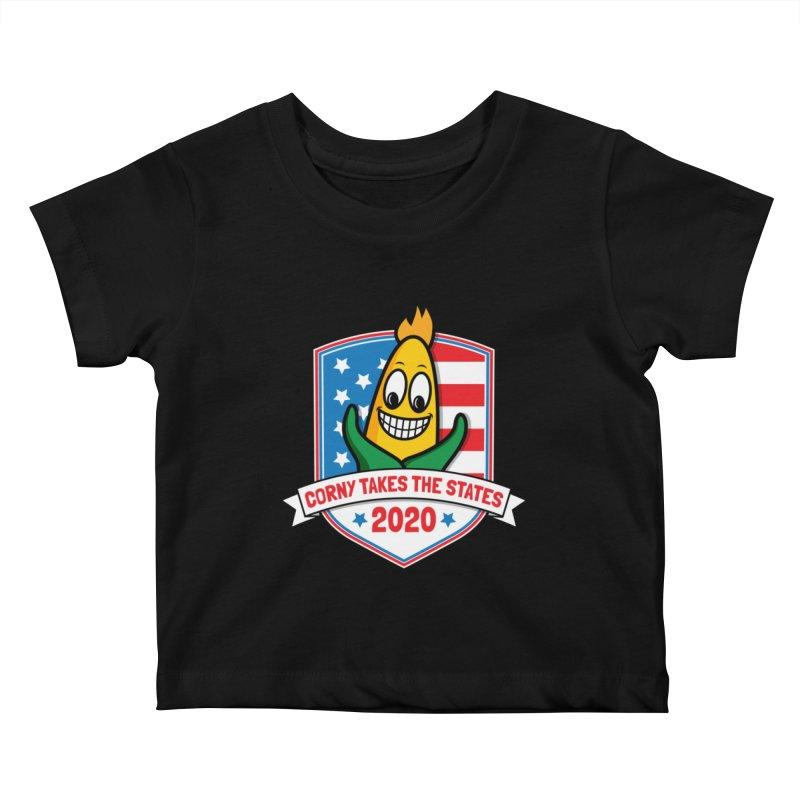 Corny Takes the States 2020 - Badge Kids Baby T-Shirt by TwistyMini Motoring Shirts