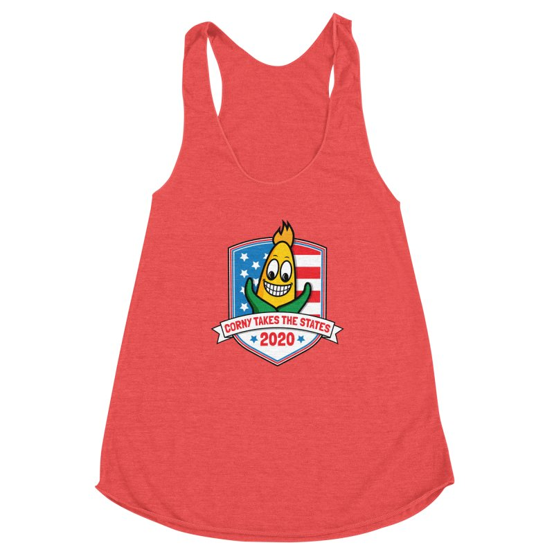 Corny Takes the States 2020 - Badge Women's Tank by TwistyMini Motoring Shirts