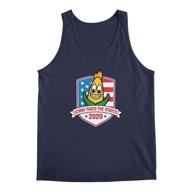 Corny Takes the States 2020 - Badge Men's Regular Tank by TwistyMini Motoring Shirts