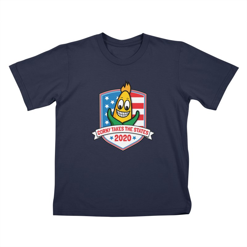 Corny Takes the States 2020 - Badge Kids T-Shirt by TwistyMini Motoring Shirts