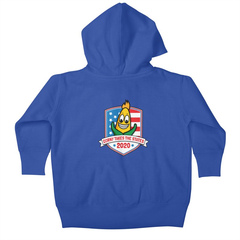 Corny Takes the States 2020 - Badge Kids Baby Zip-Up Hoody by TwistyMini Motoring Shirts
