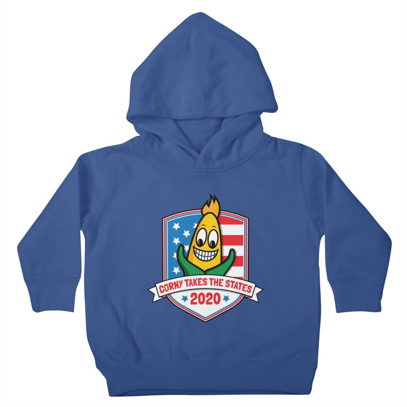 Corny Takes the States 2020 - Badge Kids Toddler Pullover Hoody by TwistyMini Motoring Shirts