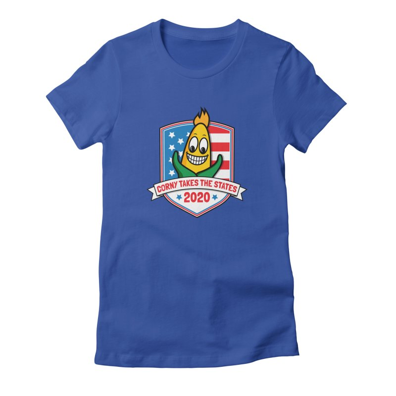 Corny Takes the States 2020 - Badge Women's Fitted T-Shirt by TwistyMini Motoring Shirts