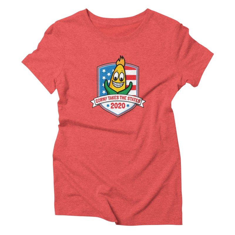 Corny Takes the States 2020 - Badge Women's Triblend T-Shirt by TwistyMini Motoring Shirts