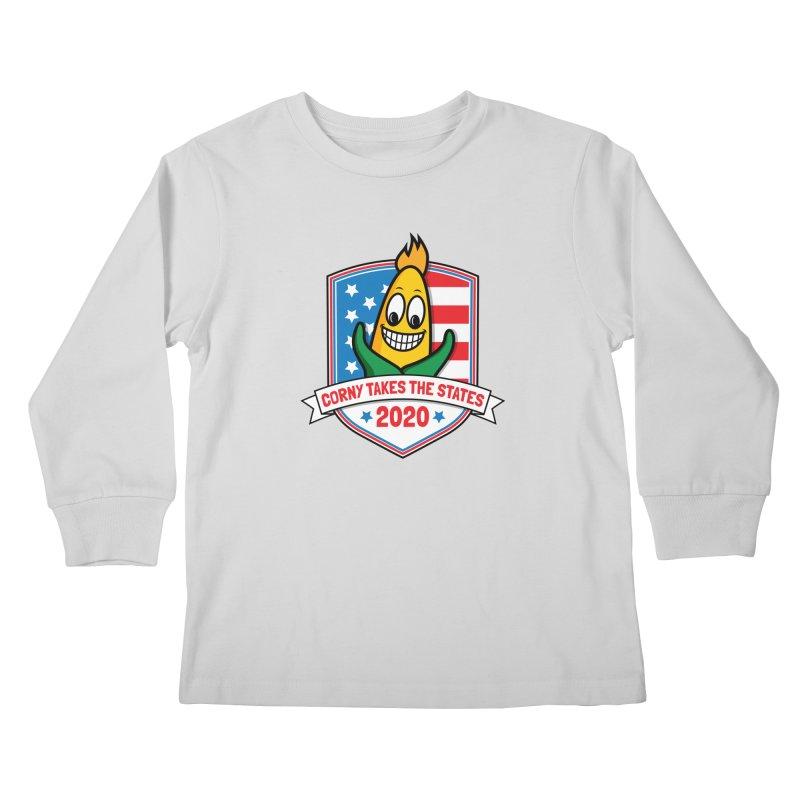 Corny Takes the States 2020 - Badge Kids Longsleeve T-Shirt by TwistyMini Motoring Shirts
