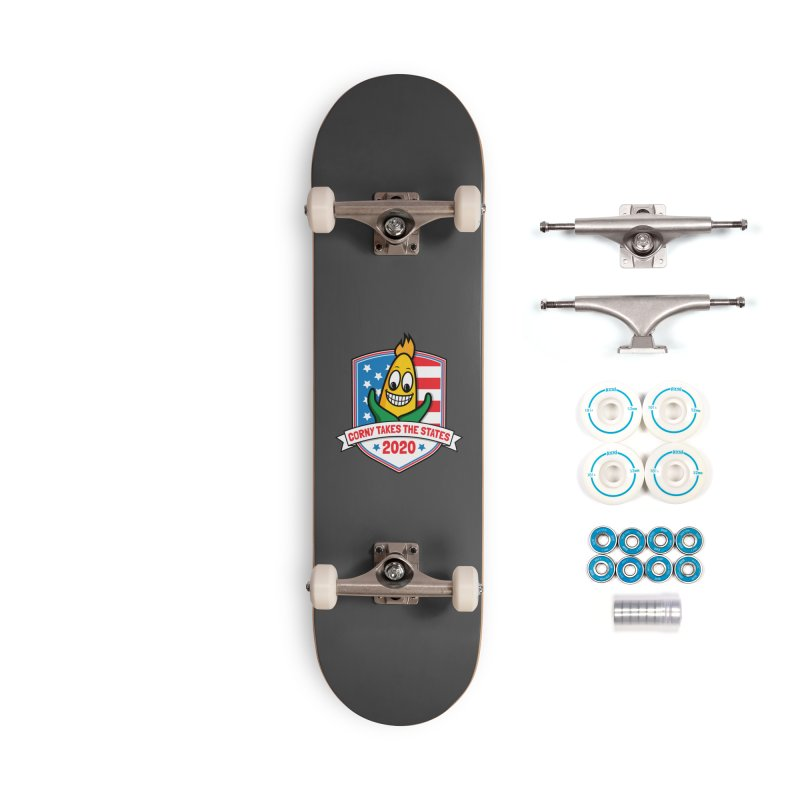 Corny Takes the States 2020 - Badge Accessories Complete - Basic Skateboard by TwistyMini Motoring Shirts