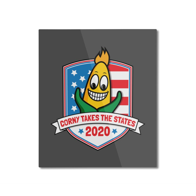 Corny Takes the States 2020 - Badge Home Mounted Aluminum Print by TwistyMini Motoring Shirts