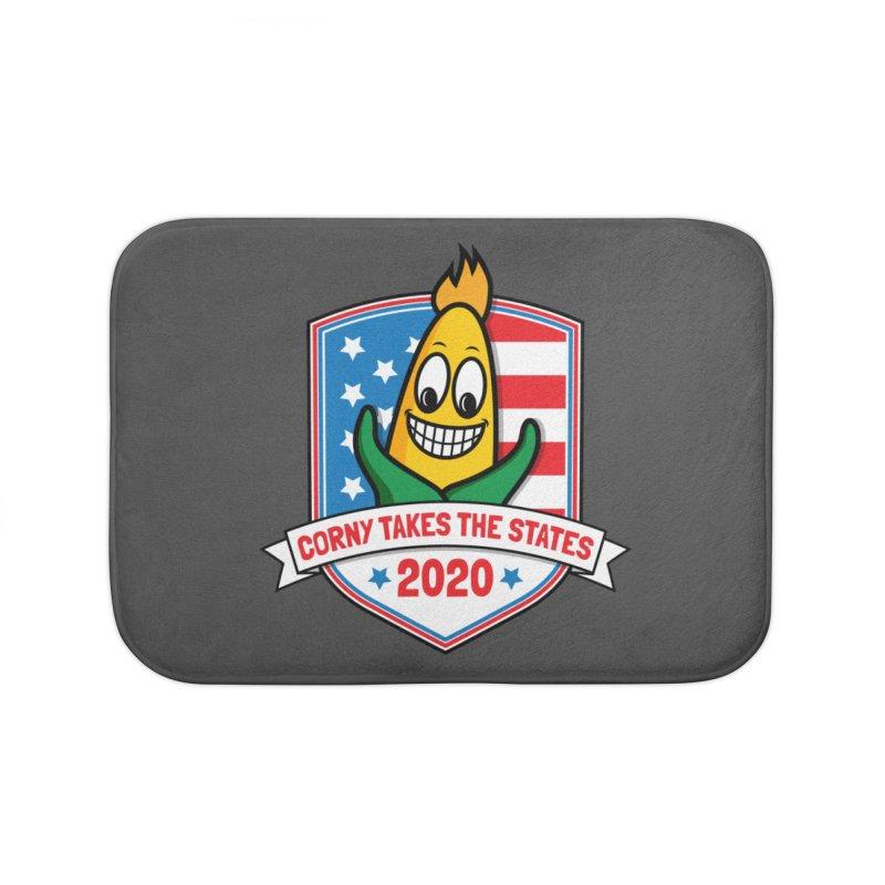 Corny Takes the States 2020 - Badge Home Bath Mat by TwistyMini Motoring Shirts