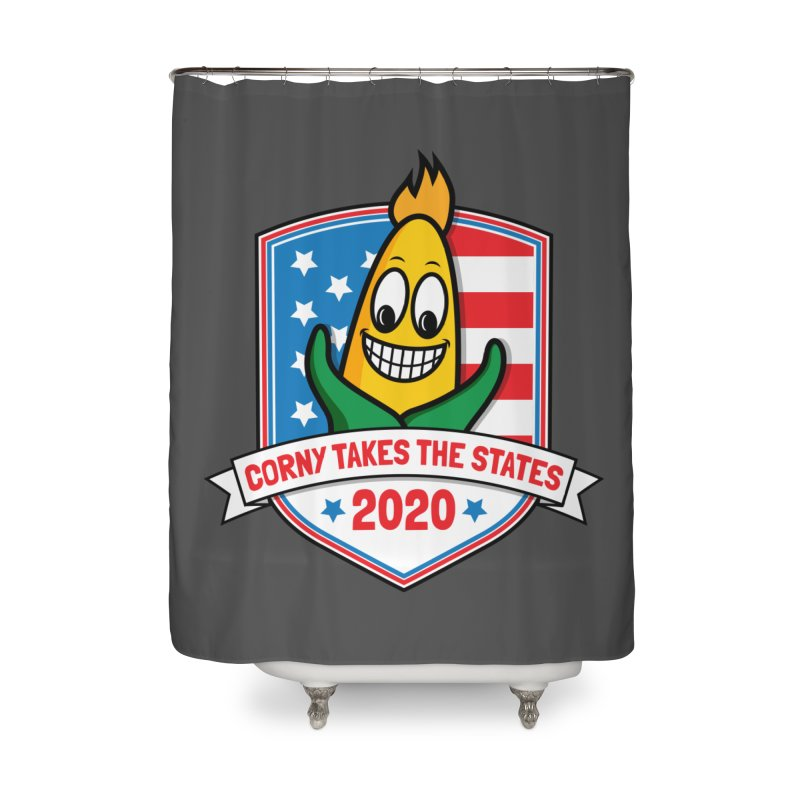 Corny Takes the States 2020 - Badge Home Shower Curtain by TwistyMini Motoring Shirts