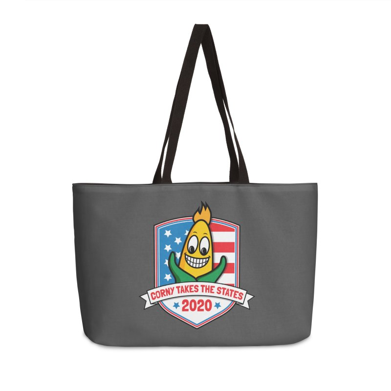 Corny Takes the States 2020 - Badge Accessories Weekender Bag Bag by TwistyMini Motoring Shirts