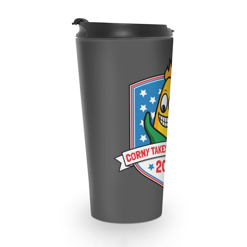 Corny Takes the States 2020 - Badge Accessories Travel Mug by TwistyMini Motoring Shirts