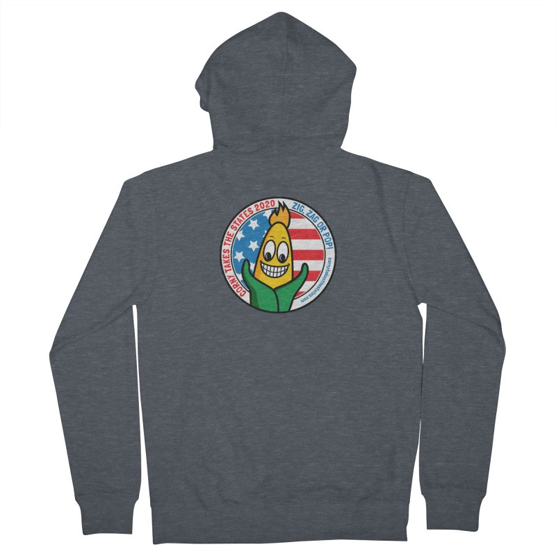 Corny Takes the States 2020 - Circle Men's French Terry Zip-Up Hoody by TwistyMini Motoring Shirts
