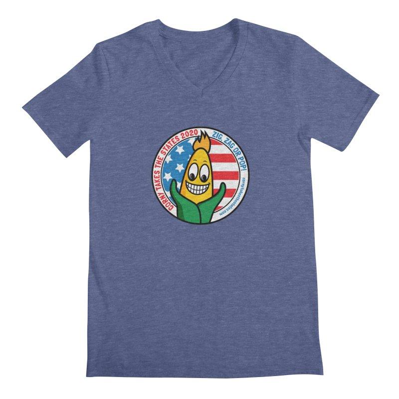 Corny Takes the States 2020 - Circle Men's Regular V-Neck by TwistyMini Motoring Shirts