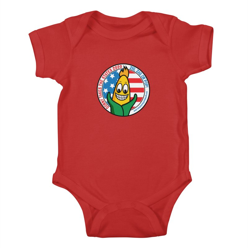 Corny Takes the States 2020 - Circle Kids Baby Bodysuit by TwistyMini Motoring Shirts